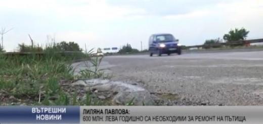 Лиляна Павлова: 600 млн. лева годишно са необходими за ремонт на пътища