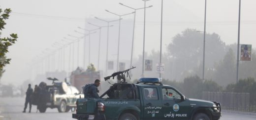 Aftermath of the Taliban attack on Amerian University of Afghanistan in Kabul