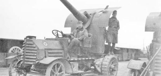 French mobile anti-aircraft gun. on the Western Front, 1918. This picture is part of a previously unpublished set of World War One (WWI) images from a private collection. The pictures offer an unusual view of varied and contrasting aspects of the conflict, from high tech artillery to mobile pigeon lofts, and from officers partying in their headquarters to the grim reality of life and death in the trenches. The year 2014 marks the centenary of the start of the war.  REUTERS/AMC  ATTENTION EDITORS - PICTURE 01 OF 31 FOR PACKAGE ÒWWI - Ò TO FIND ALL IMAGES SEARCH ÔWW1 - Ò