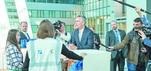First Day at the New Nato Headquarters for NATO Secretary General Jens Stoltenberg