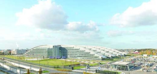 Exterior view of the new NATO headquarters