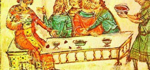 Крум пирува след победата над император Никифор,миниатюра