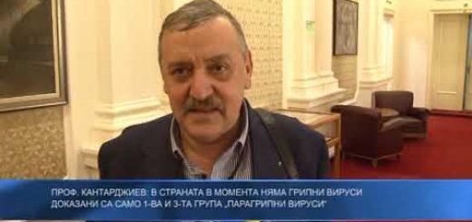 """Проф. Кантарджиев: В страната в момента няма грипни вируси – за момента са доказани 1-ва и 3-та група """"парагрипни вируси"""""""