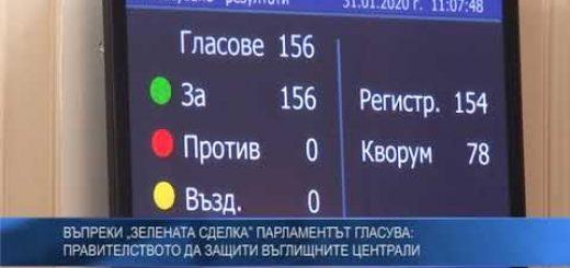 """Въпреки """"зелената сделка"""" парламентът гласува: Правителството да защити въглищните централи"""