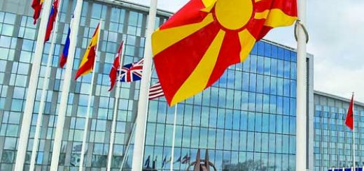 Flag raising ceremony to mark the accession of North Macedonia to NATO with remarks by NATO Secretary General Jens Stoltenberg and the Chargé d'Affaires of the Delegation of North Macedonia to NATO, Zoran Todorov