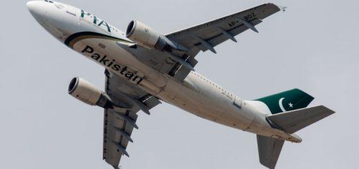 PIA Pakistan International Airlines Airbus A310 AP-BDZ passenger plane departure at Frankfurt Airport