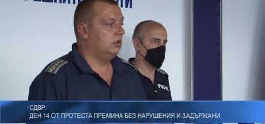 СДВР: Ден 14 от протеста премина без нарушения и задържани