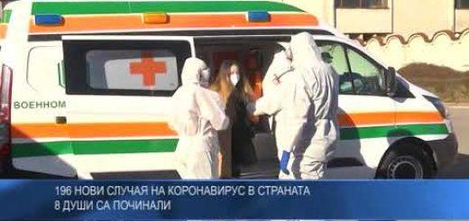 196 нови случая на коронавирус в страната, 8 души са починали