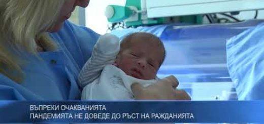 Въпреки очакванията пандемията не доведе до ръст на ражданията